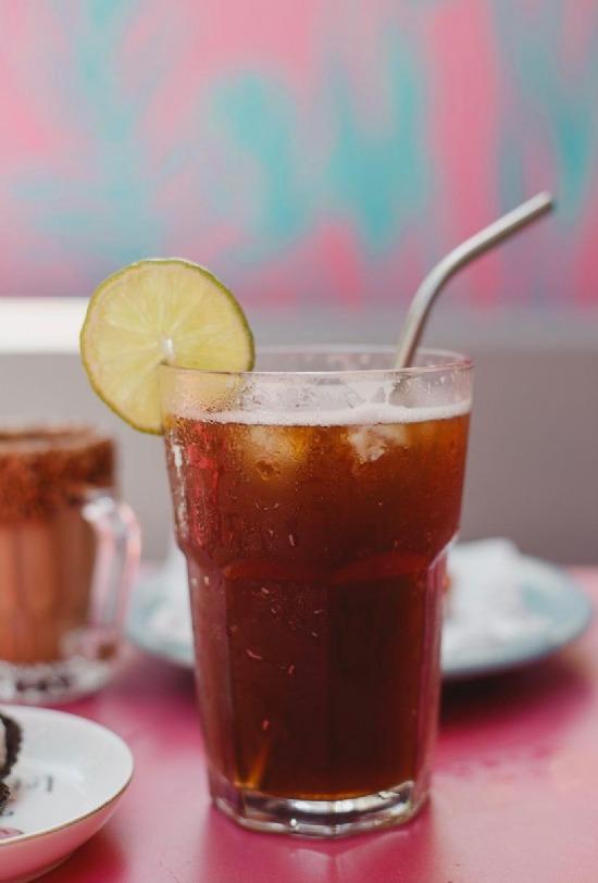 Chá Matte Gelado Batido com Limão